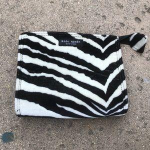Vintage Kate Spade Zebra Zipper Pouch